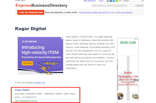 Kugar Digital listed on Express Business Directory